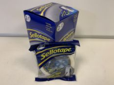 72 X BRAND NEW SELLOTAPE 2 IN 1 CLEVER TAPE IN 3 BOXES (199/23)