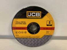 10 X BRAND NEW PACKS OF JCB 125MM METAL CUTTING DISKS (230/23)