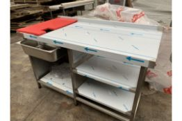 BRAND NEW FRANKE PROFESSIONAL CATERING CHICKEN UNPACK BENCH (192/23)