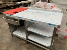 BRAND NEW FRANKE PROFESSIONAL CATERING CHICKEN UNPACK BENCH (193/23)