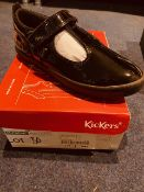 NEW AND BOXED KICKERS PATENT BLACK I-11