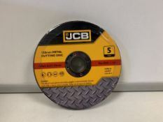 10 X BRAND NEW PACKS OF JCB 125MM METAL CUTTING DISKS (668/2)
