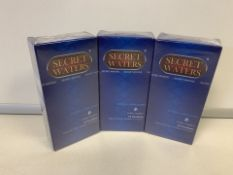 30 X BRAND NEW PACKS OF 12 SECRET WATERS EXTRA LUBRICATED EXTRA COMFORT NATURAL LATEX RUBBER CONDOMS