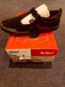 NEW & BOXED KICKERS KARIKO T VELL LEATHER UK JUNIOR 1