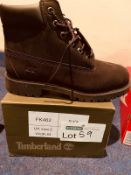 NEW AND BOXED BLACK TIMBERLAND UK2