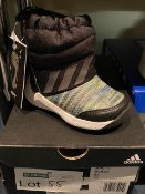 NEW AND BOXED BLACK/GREEN/WHITE ADIDAS UK 3