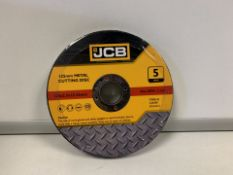 10 X BRAND NEW PACKS OF JCB 125MM METAL CUTTING DISKS (666/2)