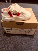 NEW AND BOXED LACOSTE WHITE/PINK UK13