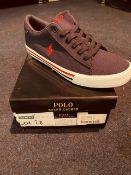 NEW NAD BOXED RALPH LAUREN POLO NAVY/RED UK-6