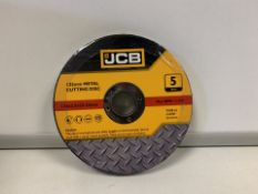 10 X BRAND NEW PACKS OF JCB 125MM METAL CUTTING DISKS (669/2)
