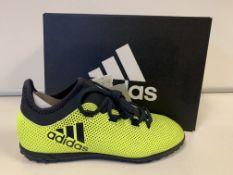 (NO VAT) 5 X BRAND NEW CHILDRENS ADIDAS X TANGO YELLOW BOOTS SIZE J4