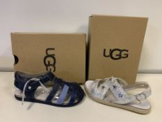 (NO VAT) 3 X BRAND NEW CHILDRENS UGG SHOES IN VARIOUS STYLES AND SIZES