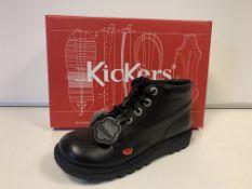 (NO VAT) 4 X BRAND NEW CHILDRENS KICKERS BLACK BOOTS SIZE J3