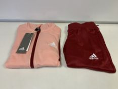 (NO VAT) 4 X BRAND NEW CHILDRENS ADIDAS FULL TRACKSUITS PINK SIZE 11-12 YEARS