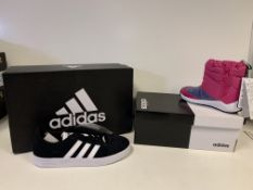 (NO VAT) 4 X BRAND NEW CHILDRENS ADIDAS TRAINERS IN VARIOUS STYLES AND SIZES
