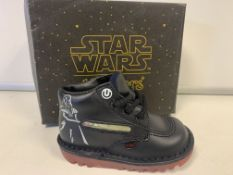 (NO VAT) 5 X BRAND NEW CHILDRENS KICKERS STAR WARS VADER LIGHTSABER BOOTS VARIOUS SIZES