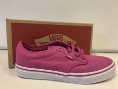(NO VAT) 3 X BRAND NEW CHILDRENS VANS BERRY TRAINERS SIZE 4