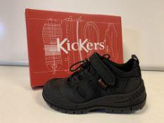 (NO VAT) 5 X BRAND NEW CHILDRENS KICKERS TRUCKER BLACK TRAINERS SIZE I6