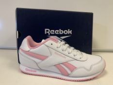 (NO VAT) 5 X BRAND NEW CHILDRENS REEBOK PINK AND WHITE RUNNING TRAINERS SIZE J5