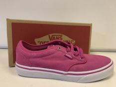 (NO VAT) 4 X BRAND NEW CHILDRENS VANS BERRY TRAINERS SIZE 4