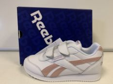 (NO VAT) 3 X BRAND NEW CHILDRENS REEDBOK ROYAL WHITE CLASSIC TRAINERS SIZE I12