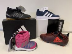 (NO VAT) 4 X BRAND NEW ADIDIAS TRAINERS IN VARIOUS STYLES AND SIZES