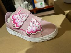 NEW & BOXED PUMA PINK VELCROW TRAINERS SIZE INFANT 11