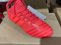 NEW & BOXED ADIDAS ORANGE FOOTBALL BOOT SIZE JUNIOR 3