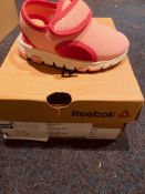 NEW AND BOXED REEBOK PINK/WHITE I-4.5 (25/7)