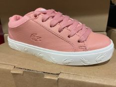 NEW & BOXED LACOSTE PINK LOGO TRAINER SIZE INFANT 10