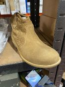 NEW & BOXED THE KIDS DIVISION TAN ANKLE BOOT SIZE JUNIOR 4