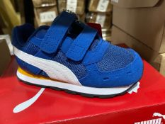 NEW & BOXED PUMA BLUE VELCROW TRAINERS SIZE INFANT 6