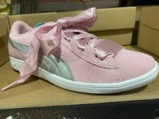 NEW & BOXED PUMA PINK RIBBON TRAINERS SIZE JUNIOR 4
