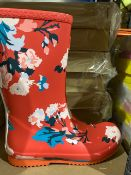 NEW & BOXED JOULES FLORAL WELLIES SIZE JUNIOR 3