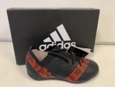 (NO VAT) 2 x NEW BOXED PAIRS OF ADIDAS NEMEZIZ TANGO 17.3 FOOTBALL SHOES. SIZE UK INFANT 13