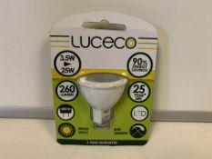 50 x NEW SEALED LUCECO WARM WHITE LED LIGHT BULBS. 3.5W=25W. 260 LUMEN. MR16 FITTING. RRP £9.97