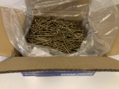 3 x NEW BOXES OF GOLD SCREW PZ. 5x100MM. EACH BOX CONTAINS APPROX. 1000 SCREWS. RRP £55 PER BOX
