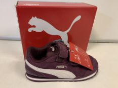 (NO VAT) 5 x NEW BOXED PAIRS OF PUMA ST RUNNER TRAINERS. SIZE UK INFANT 9.