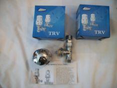 2 x Thermostatic Radiator Valve Chrome RRP over £25 per valve