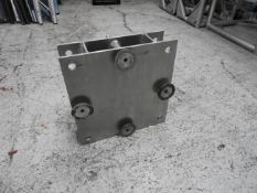 Base plates for 12' uprights with 2 out rigger legs per base plate