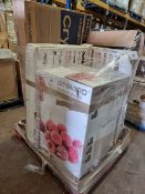(T4) PALLET TO CONTAIN 5 x VARIOUS RETURNED ITEMS TO INCLUDE 43 INCH TV, AMBIANO CHEST FREEZER ETC