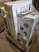 (T1) PALLET TO CONTAIN 6 x VARIOUS RETURNED ITEMS TO INCLUDE TVS, DUAL ZONE WINE COOLER TO INCLUDE