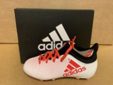 (NO VAT) 2 X BRAND NEW ADIDAS X 17 FOOTBALL BOOTS SIZE i12 (179/23)