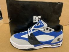 5 X BRAND NEW DC SHOE BLUE BLACK AND WHITE TRAINERS SIZE 6 RRP £65 EACH (209/23)