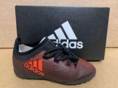 (NO VAT) 3 X BRAND NEW ADIDAS X TANGO ORANGE FOOTBALL TRAINERS SIZE i13 (117/23)