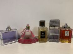 5 X VARIOUS BRANDED TESTER PERFUMES (279/23)