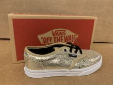 (NO VAT) 5 X BRAND NEW CHILDRENS VANS ATWOOD LOW GIRLS TRAINERS SIZE i13