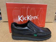 (NO VAT) 3 X BRAND NEW CHILDRENS KICKERS FRAGMA SLIP BLACK SHOES SIZE J3