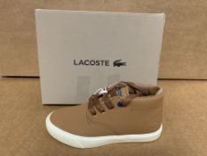(NO VAT) 4 X BRAND NEW CHILDRENS LACOSTE TAN BOOTS SIZE i10