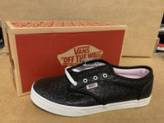 (NO VAT) 3 X BRAND NEW CHILDRENS VANS BLACK ATWOOD LOW TRAINERS SIZE J4